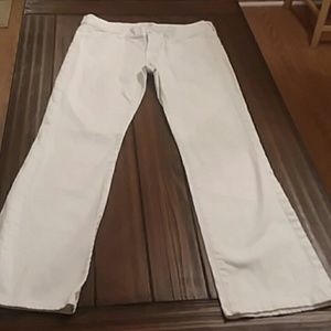 7 for all mankind white jeans, 29 waist